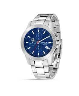 Sector 480 45mm chr blue dial br ss