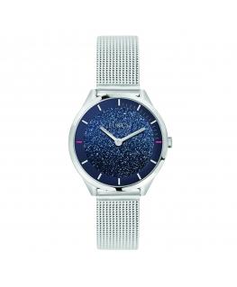 Furla Velvet 31mm 2h blue dial mesh br ss