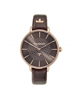 Orologio Trussardi T-fun donna pelle marrone 36mm