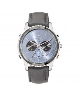 Orologio Trussardi T-style crono pelle grigio 44mm