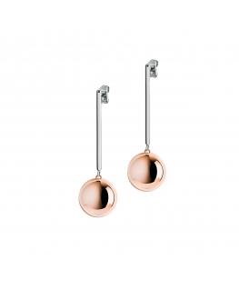 Orecchini Morellato Boule acciaio oro rosa