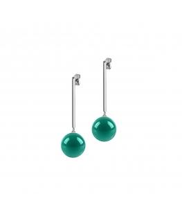 Orecchini Morellato Boule acciaio verde