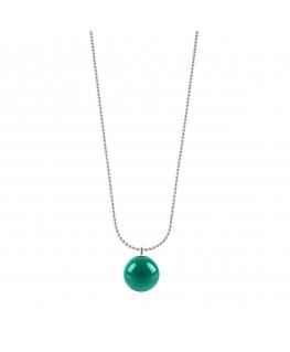 Collana Morellato Boule acciaio verde 75cm