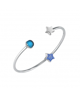 Bracciale Morellato Drops bangle stella blu