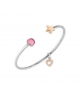 Bracciale Morellato Drops bangle stella rosa