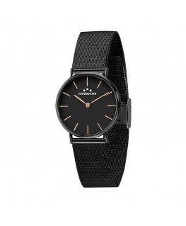 Chronostar Preppy 32mm 2h black dial mesh br black