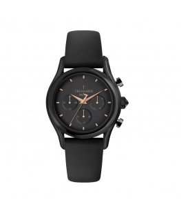 Trussardi T-light 43mm multi black dial black st