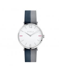 Furla Giada 33mm 2h white dial blue+gray st