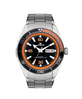 Orologio Lorenz Diver Automatic nero / orange