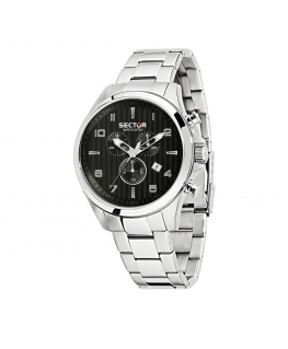 Sector 180 48mm chr black dial br ss