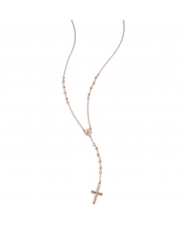 Collana Sector Love and love acciaio oro rosa rosario