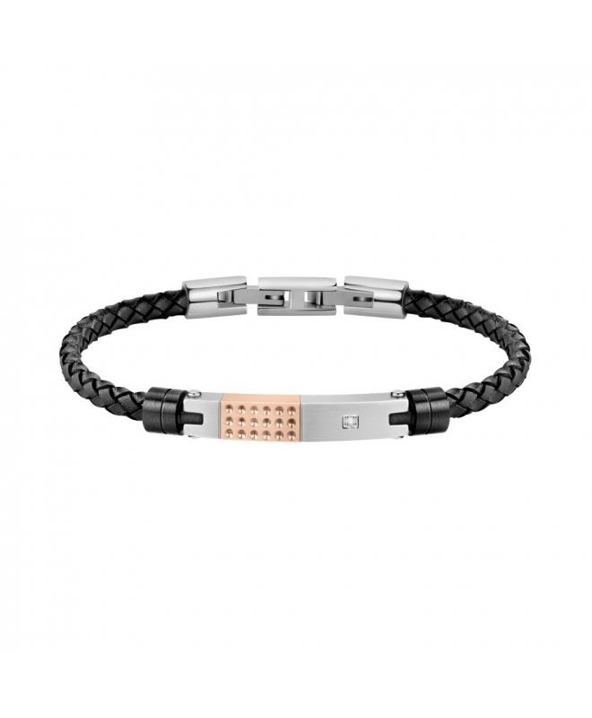 Morellato Moody br. blk leather ss + rg tag - galleria 1