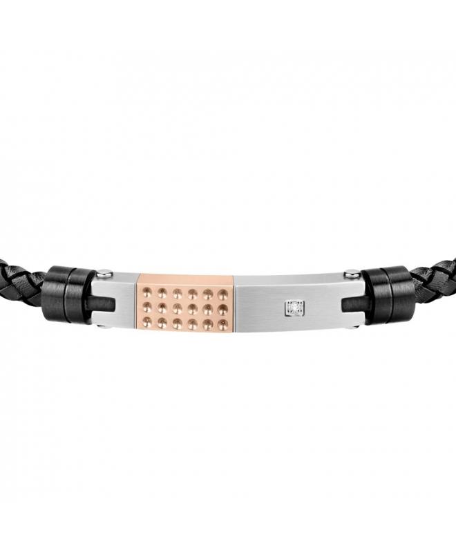 Morellato Moody br. blk leather ss + rg tag - galleria 2