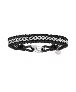 Sector Gioielli Bandy br. ss chain & black leather