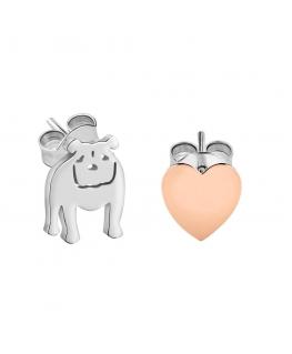 La Petite Story Dog & kitty earrings lps bulldog ss+rg