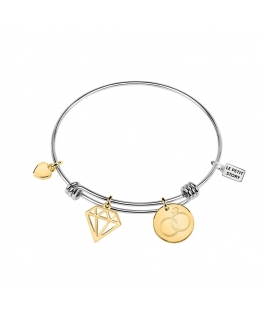 La Petite Story Bangle br lps diamond-ss+gold