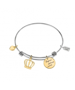La Petite Story Bangle br lps crown-ss+gold