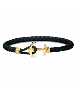 Paul Hewitt Bracelet bonded leather black