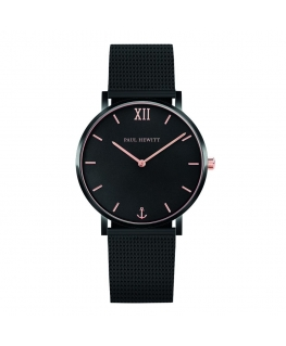 Paul Hewitt Watch sailor line black dial mesh black