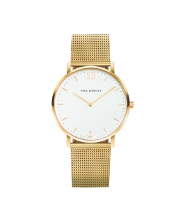 Paul Hewitt Watch sailor line white dial br golden
