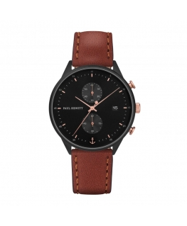 Paul Hewitt Watch chrono line black sunray ip black