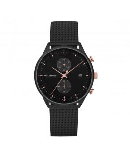 Paul Hewitt Watch chrono st steel blk brac