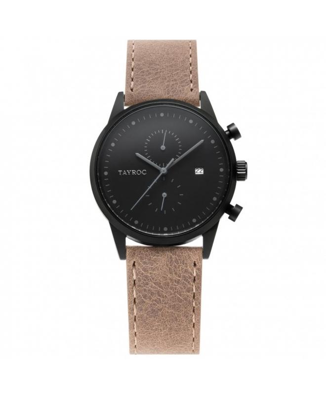 Tayroc Orol boundless black dial brown str - galleria 1