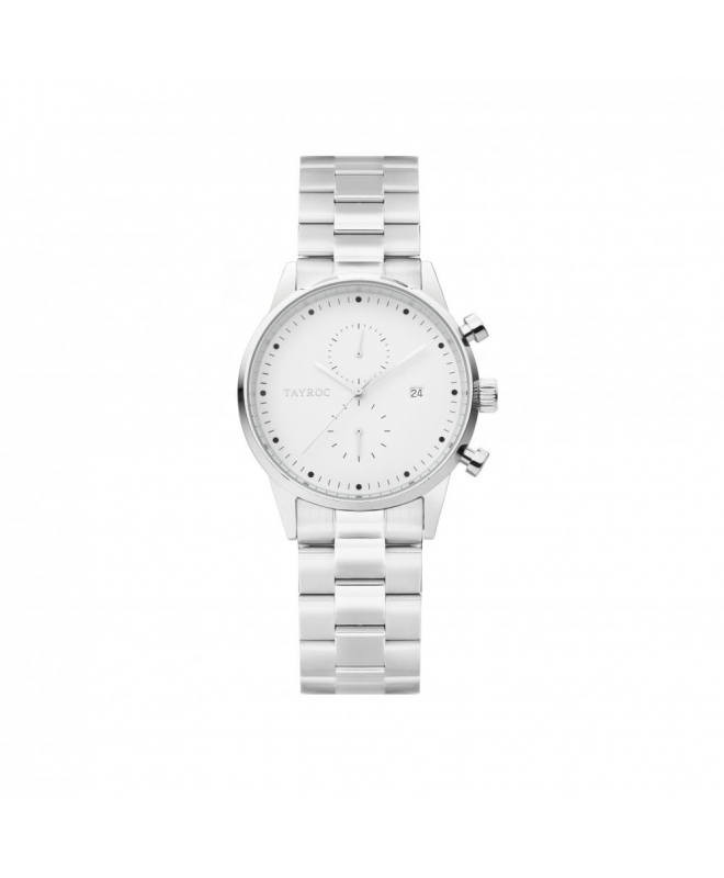 Tayroc Orol boundless white dial silver br - galleria 1