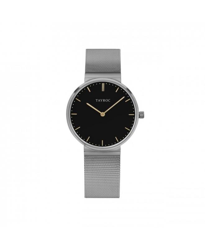 Tayroc Orol signature black dial light grey br - galleria 1