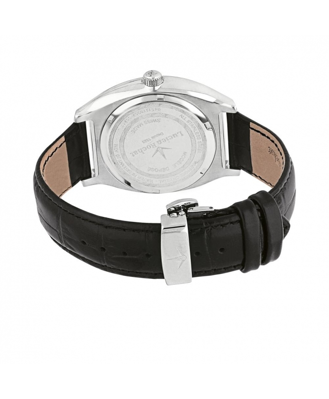 Lucien Rochat Lunel 41mm 3h black dial black strap - galleria 2