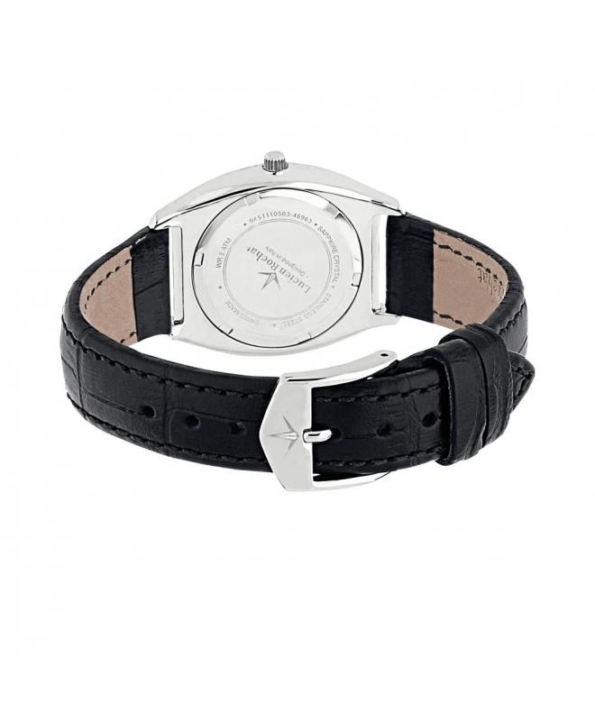 Lucien Rochat Lunel 32mm 2h black dial black strap - galleria 2