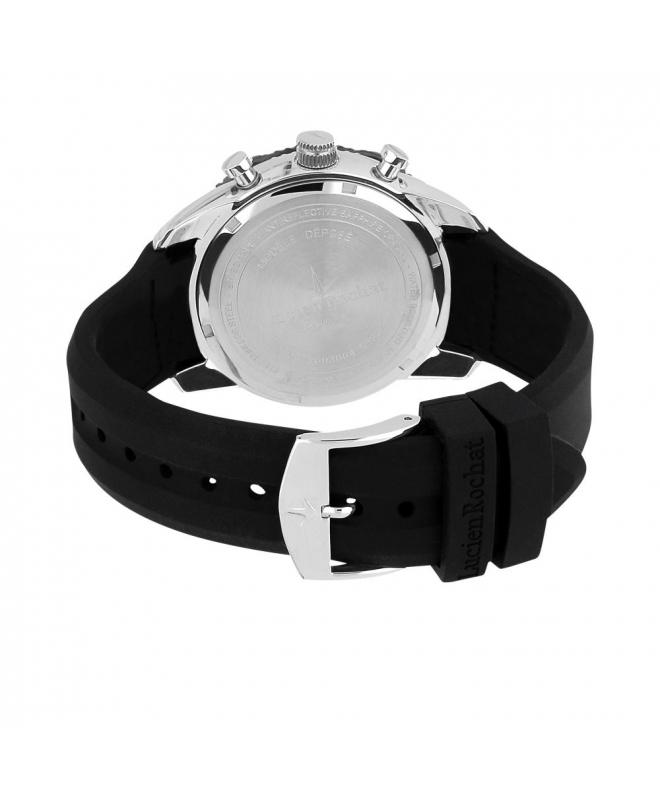 Lucien Rochat Krab 45mm chr black dial black st - galleria 2