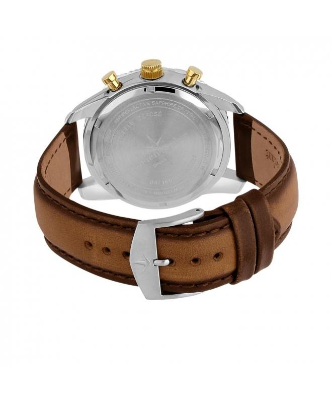 Lucien Rochat Krab 45mm chr w/silver dial brown st - galleria 2