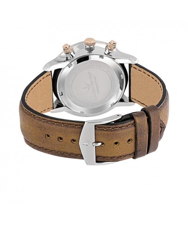 Lucien Rochat Granville 44mm chr white dial blue strap - galleria 2