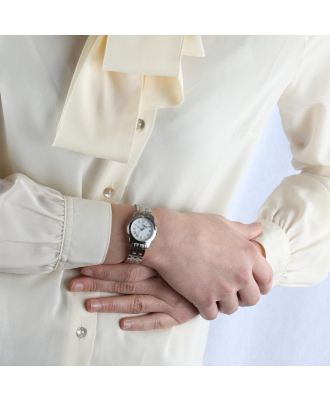 Philip Watch Timeless lady 28mm 3h white dial ss br donna - galleria 3