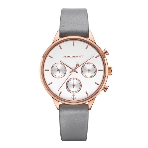Paul Hewitt Watch everpulse white dial rg leather