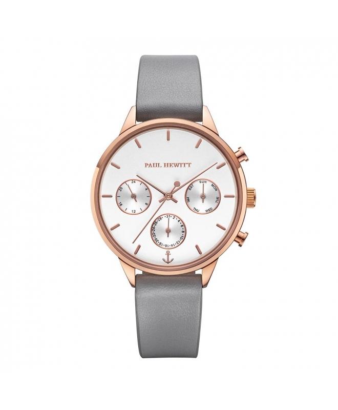 Paul Hewitt Watch everpulse white dial rg leather - galleria 1