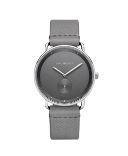 Paul Hewitt Watch breakwater grey dial grey leather