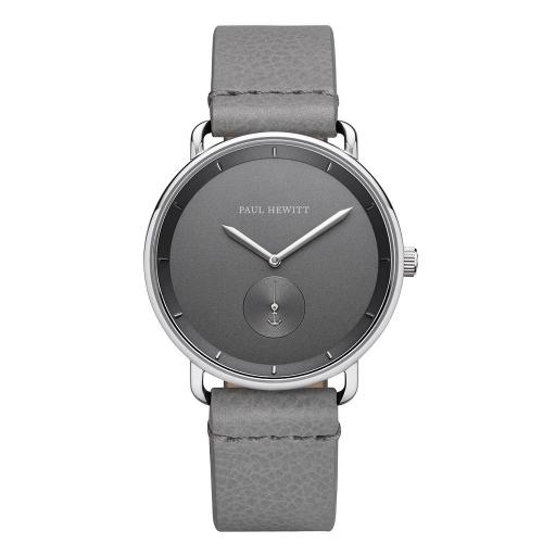 Paul Hewitt Watch breakwater grey dial grey leather
