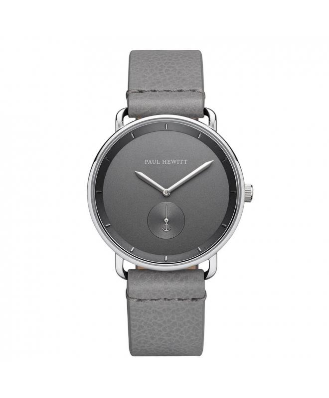 Paul Hewitt Watch breakwater grey dial grey leather - galleria 1