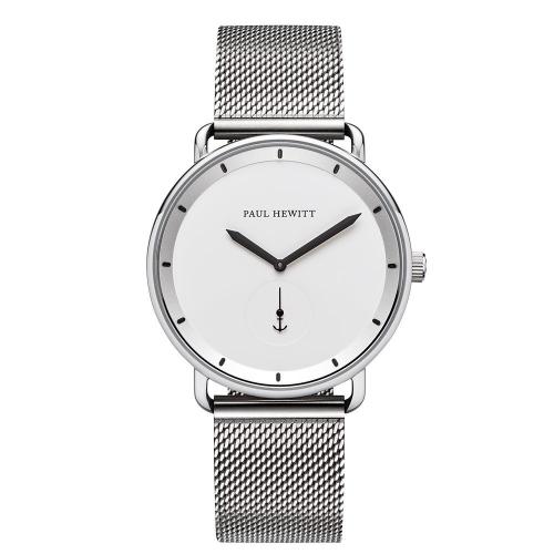 Paul Hewitt Watch breakwater white dial ss metal