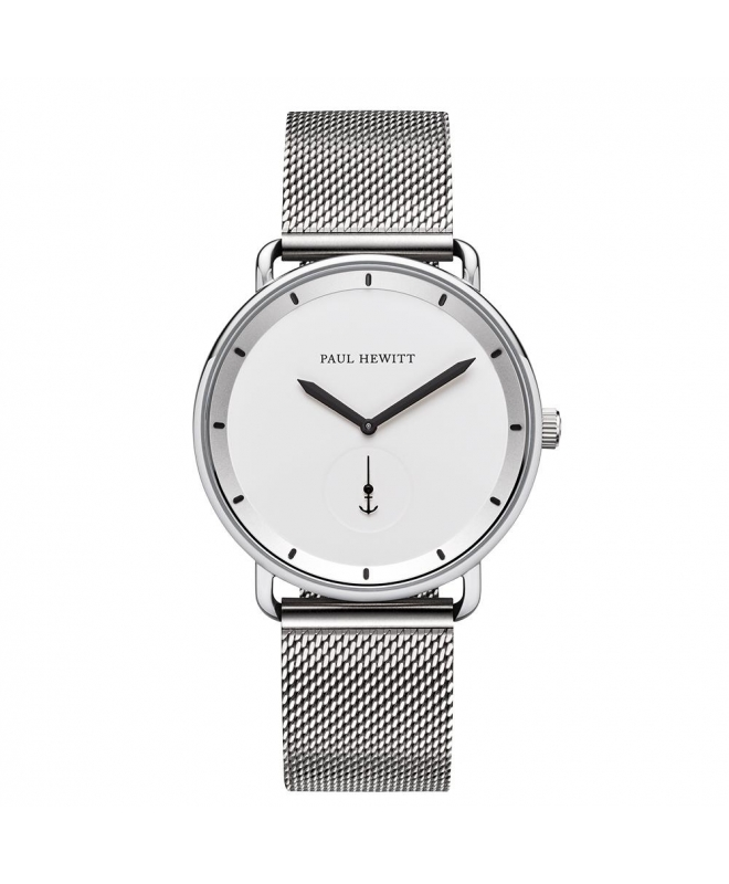 Paul Hewitt Watch breakwater white dial ss metal - galleria 1