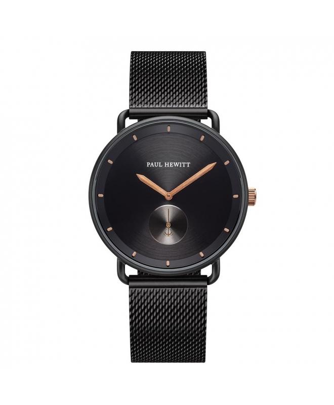 Paul Hewitt Watch breakwater black dial blk metal - galleria 1