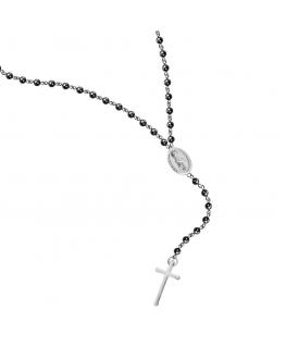 Collana Sector Spirit rosario croce nero