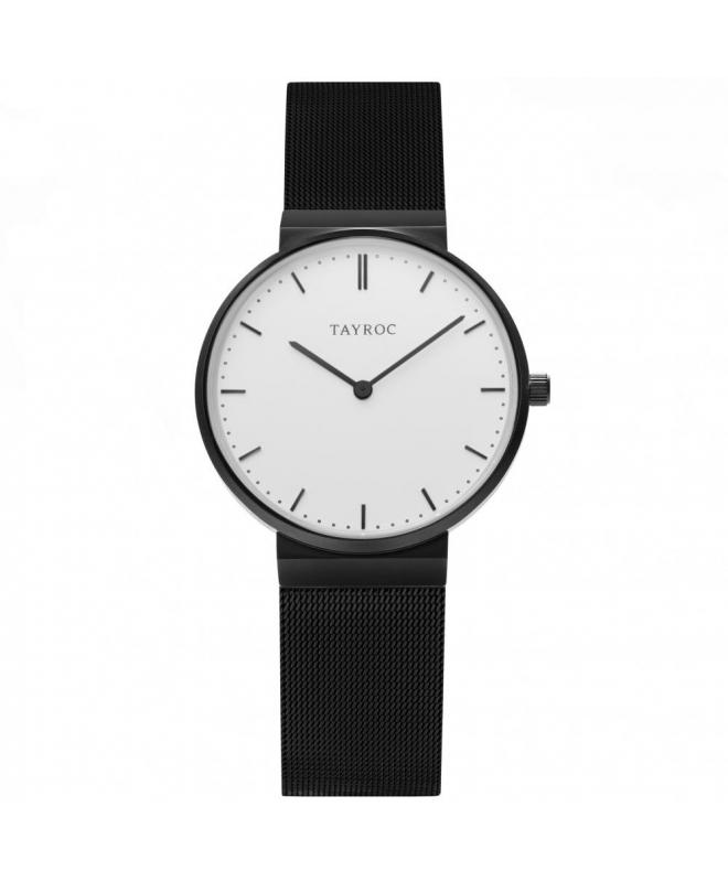 Tayroc Watch signature white dial matte black b - galleria 1