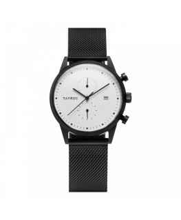 Tayroc Watch boundless white dial matte black b