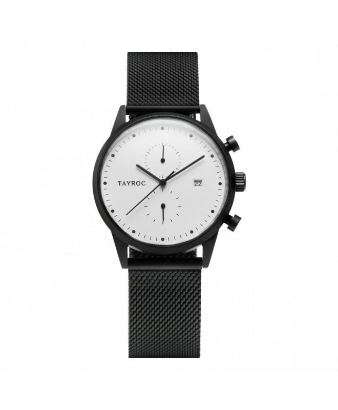 Tayroc Watch boundless white dial matte black b - galleria 1