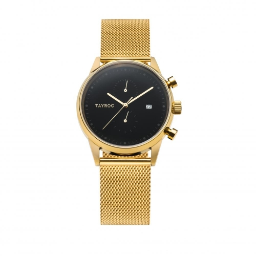 Tayroc Orol boundless black dial gold br
