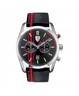 SCUDERIA FERRARI Mod. D50 GENT CHRONO LEATHER STRAP 42mm 5 ATM