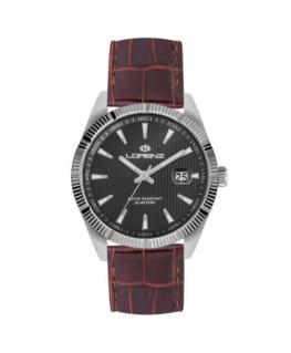 Orologio Lorenz Date Classic pelle bordeaux / nero